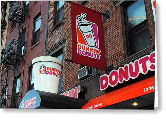 Dunkin' Donuts Greeting Card by Agnes Czekman
