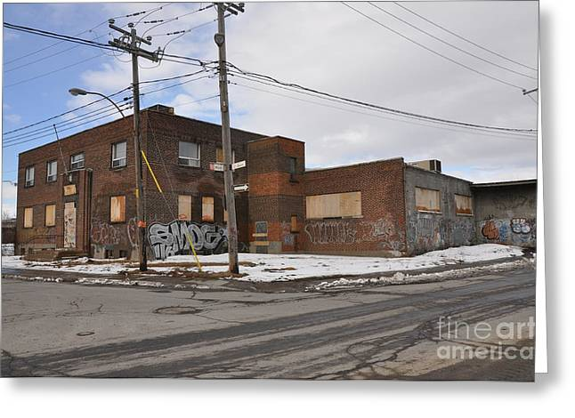 Dunn Greeting Cards - Dunn and Pitt Street Urban Exploration Greeting Card by Reb Frost