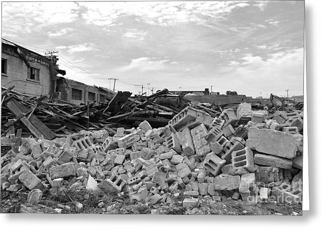 Dunn Greeting Cards - Dunn Street Demolition 2 Greeting Card by Reb Frost