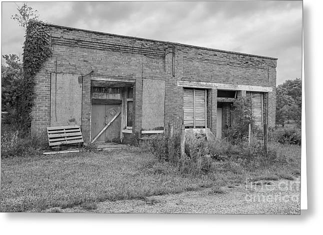 Historic Country Store Greeting Cards - Dunnegans Old MFA Grayscale Greeting Card by Jennifer White