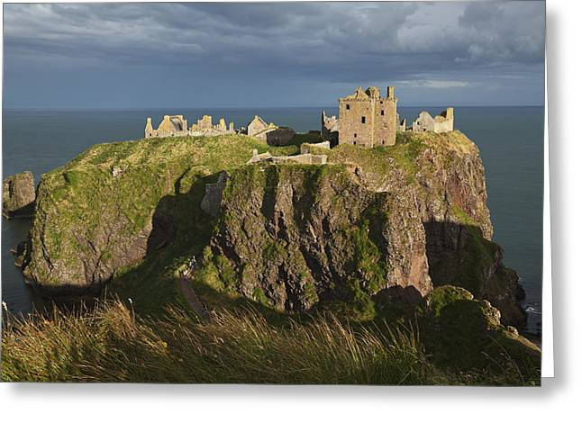 Remains Of Images Greeting Cards - Dunnottar Castle, South Of Stonehaven Greeting Card by Carl Bruemmer