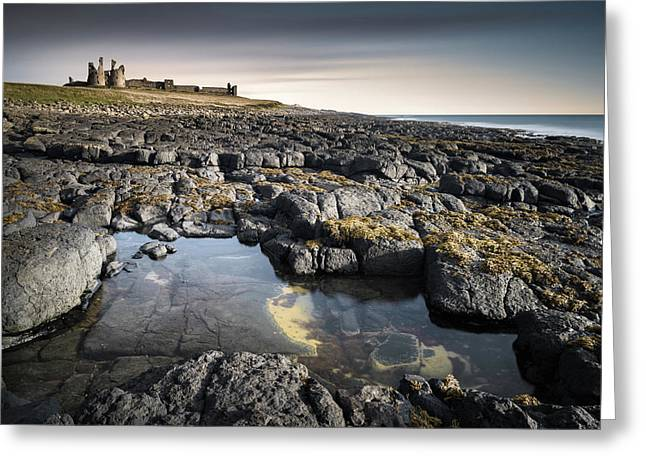 Dunstanburgh Castle Greeting Card by Dave Bowman