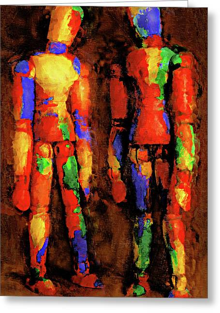 Pondering Greeting Cards - Duo Greeting Card by Jeff  Gettis