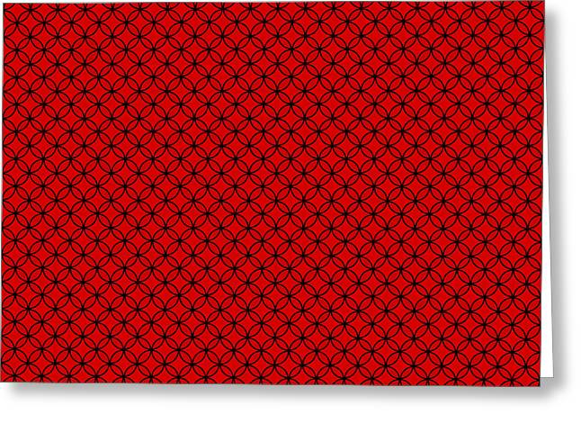 Duo Tone Red Repeatable Design Greeting Card by Greg Noblin