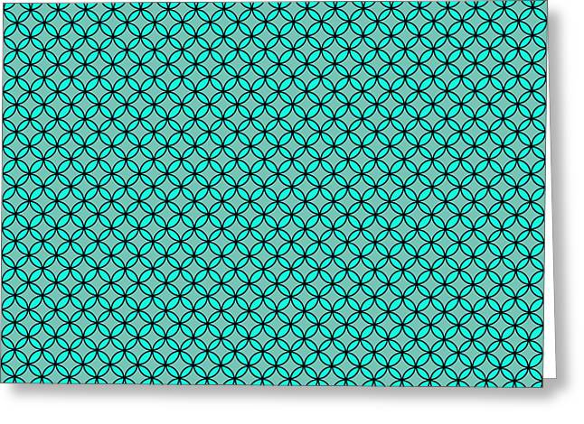 Duo Tone Repeatable Pattern Design Greeting Card by Greg Noblin