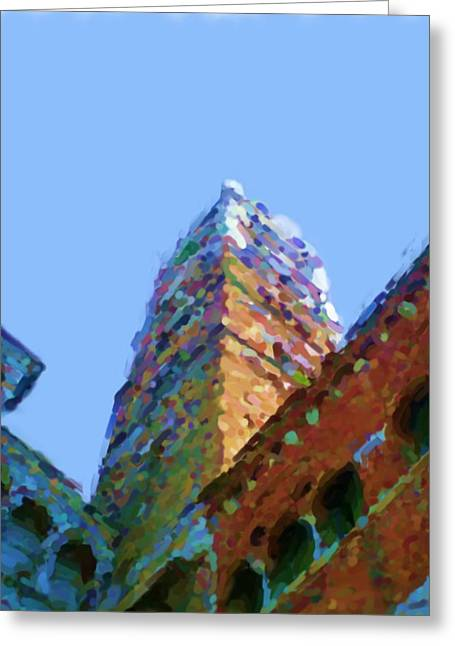 Asbjorn Lonvig Digital Art Greeting Cards - Duomo di San Martino di Lucca Greeting Card by Asbjorn Lonvig