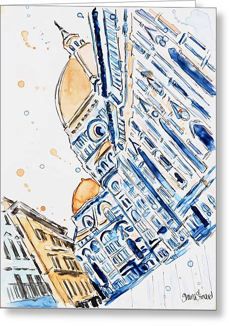 Duomo Greeting Card by Shaina Stinard