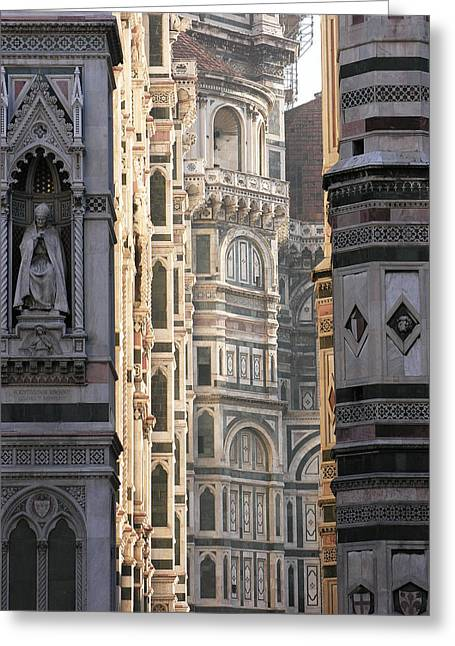 Renaissance Sculpture Greeting Cards - Duomo Sunrise Greeting Card by Alan Todd