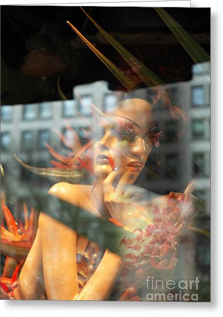 Newyorkcity Greeting Cards - Duplicity Paradise Women Greeting Card by Anahi DeCanio