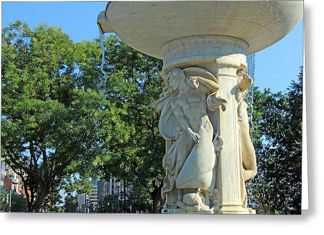 Dupont Circle Fountain -- The Wind Greeting Card by Cora Wandel