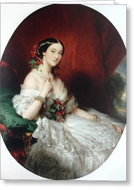 Duquesa Francisca De Alba Greeting Card by Franz Xaver