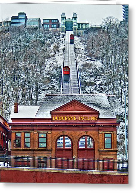 Duquesne Incline Greeting Card by Mark Dottle