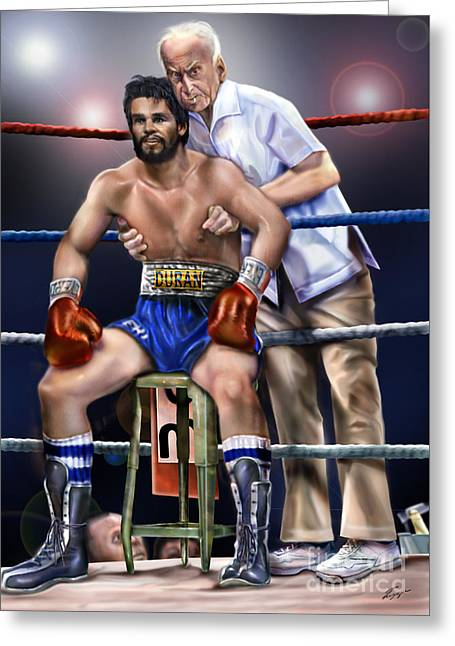 Duran Hands Of Stone 1a Greeting Card by Reggie Duffie