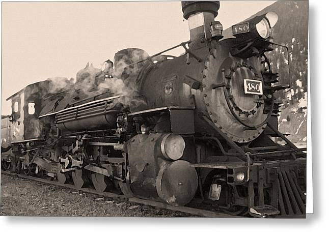 Durango Greeting Cards - Durango Silverton 480 Sepia Greeting Card by Ernie Echols
