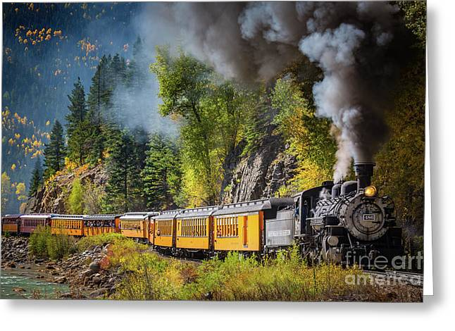 Durango-silverton Narrow Gauge Railroad Greeting Card by Inge Johnsson
