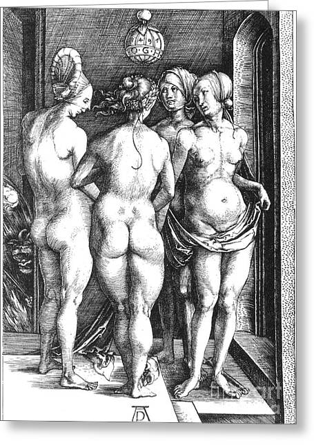 Artflakes Greeting Cards - Durer: Four Witches, 1497 Greeting Card by Granger