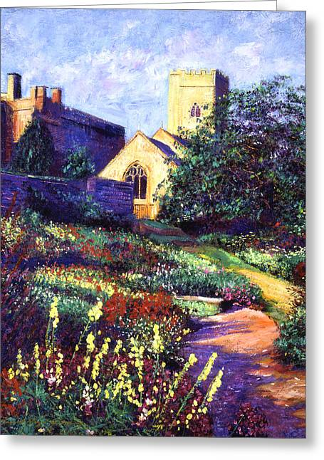 Stones Greeting Cards - Dusk At The Abbey Greeting Card by David Lloyd Glover