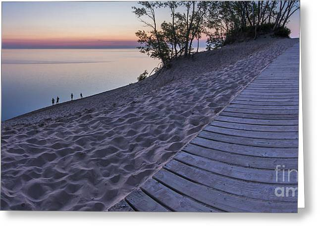 Scenic Drive Greeting Cards - Dusk Boardwalk Greeting Card by Twenty Two North Photography