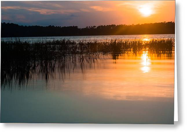 Lake House Greeting Cards - Dusk Hues  Greeting Card by Parker Cunningham