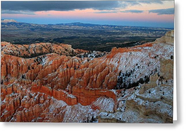Dusk In Bryce Canyon Greeting Card by Pierre Leclerc Photography