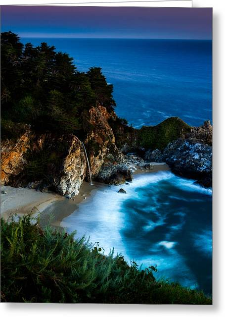 Big Sur California Photographs Greeting Cards - Dusk in the Cove Greeting Card by Dan Holmes