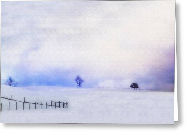 Snow Scenes Greeting Cards - Dusky Snow Greeting Card by Kathy Jennings
