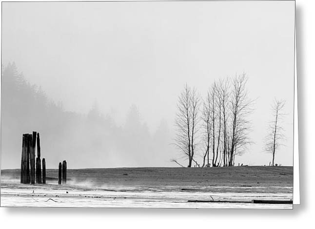 Winter Storm Greeting Cards - Dust Storm at Kilby Greeting Card by Michael Russell