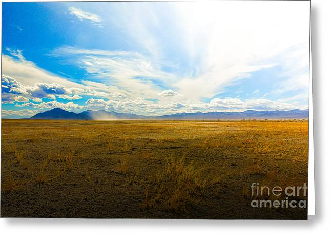Scenic Greeting Cards - Dusting Off The Sky Greeting Card by Jon Olmstead