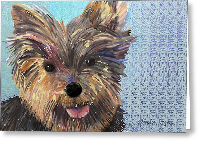Dusty Greeting Card by Arline Wagner
