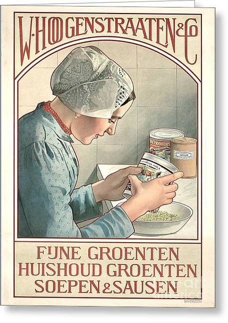 Dutch Canned Goods Ad 1899 Greeting Card by Padre Art