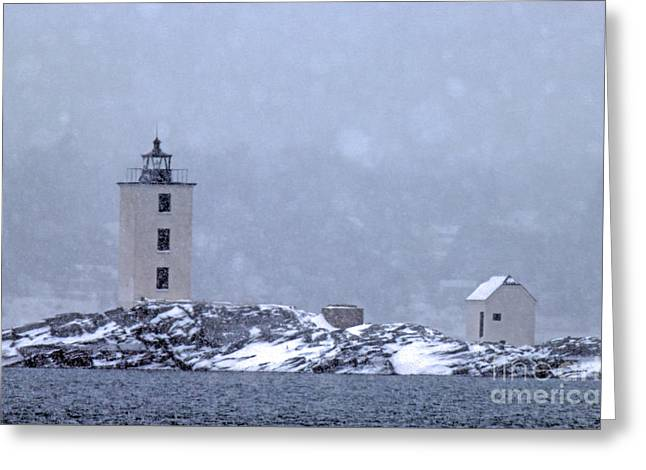 Dutch Lighthouse Greeting Cards - Dutch Island Lighthouse Greeting Card by James Beckwith