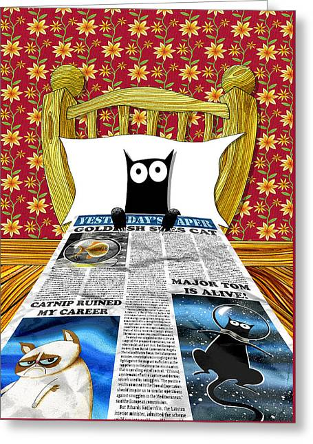 Bedspread Greeting Cards - Duvet Cover Greeting Card by Andrew Hitchen
