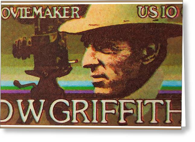 Moviemaker Greeting Cards - DW Griffith Greeting Card by Lanjee Chee