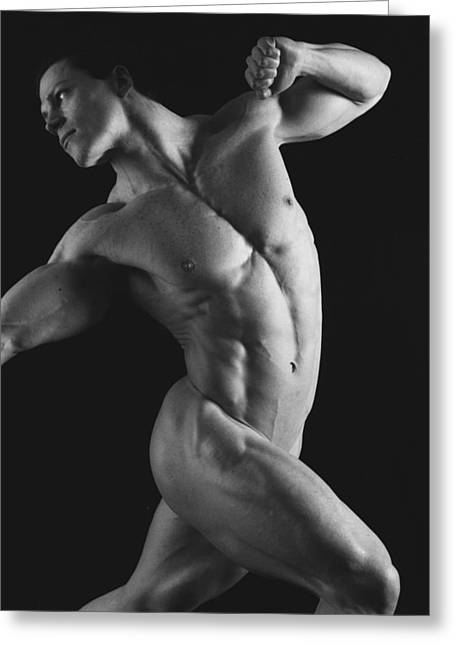 Male Nude Greeting Cards - Dwain Leland 1 Greeting Card by Thomas Mitchell