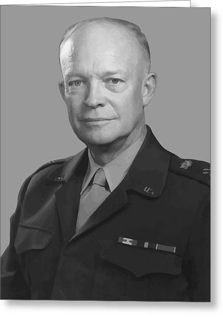 U S Presidents Greeting Cards - Dwight D. Eisenhower  Greeting Card by War Is Hell Store