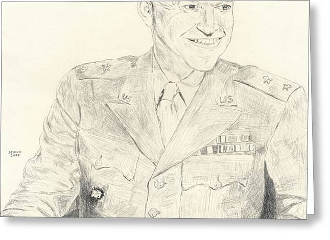 Dwight David Eisenhower  Greeting Card by Dennis Larson