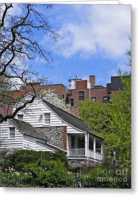 Clapboard House Greeting Cards - Dyckman House 2 Greeting Card by Sarah Loft