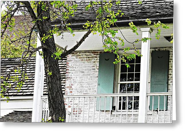 Clapboard House Greeting Cards - Dyckman House 3 Greeting Card by Sarah Loft