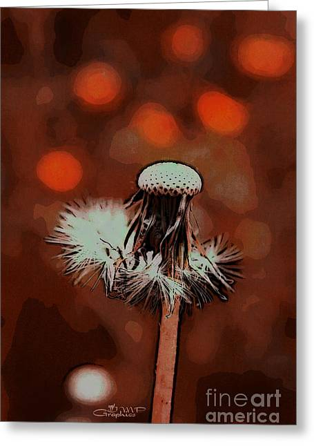 Postwork Greeting Cards - Dying Blowball Greeting Card by Jutta Maria Pusl