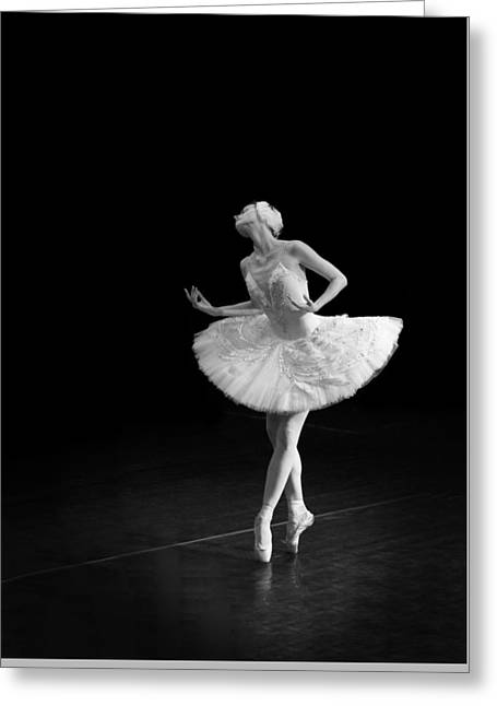 Young St. Clare Greeting Cards - Dying Swan 3 Alternate Crop Greeting Card by Clare Bambers
