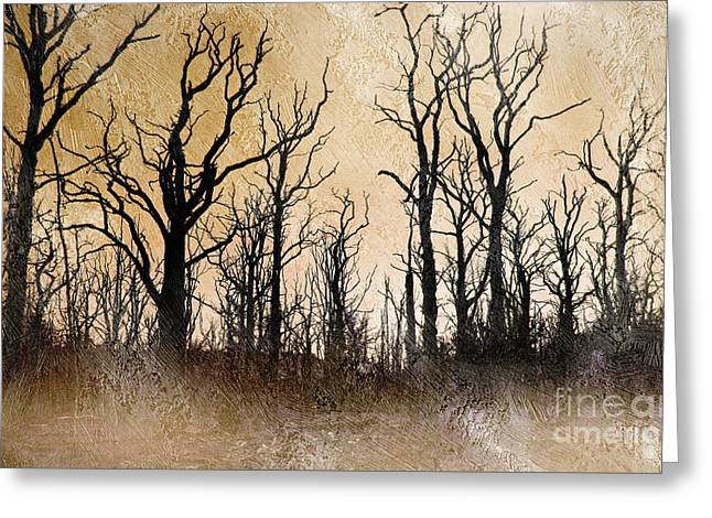 The Dying Trees Greeting Card by The Rambler