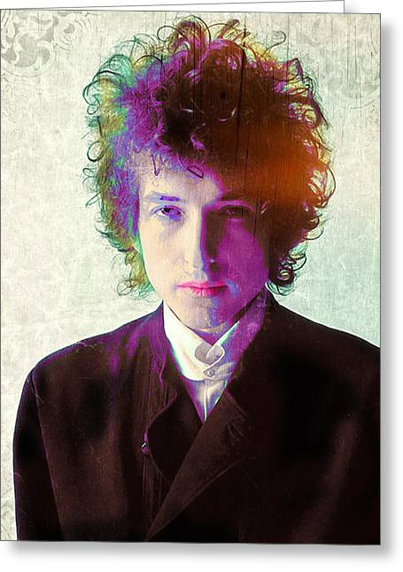 Bob Dylan Print Greeting Cards - Dylan Greeting Card by Stephen Walker