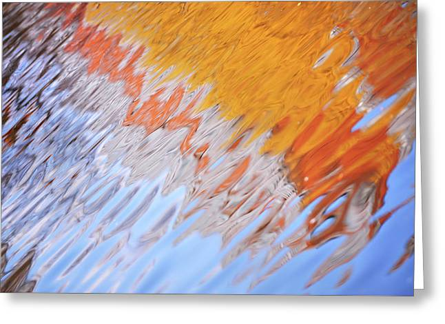 Dynamic Water Abstract Greeting Card by Jenny Rainbow