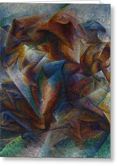 Dynamism Of A Soccer Player Greeting Card by Umberto Boccioni