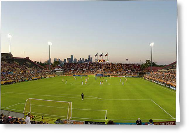 Dynamos Greeting Cards - Dynamo Pano Greeting Card by Scott Pellegrin