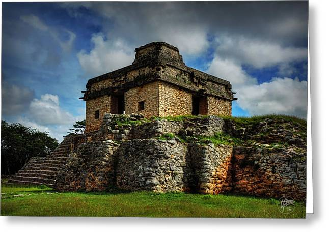 Stone Steps Greeting Cards - Dzibilchaltun - Temple of the Seven Dolls 002 Greeting Card by Lance Vaughn