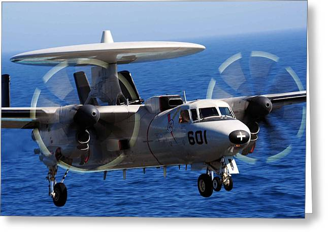 F-18 Paintings Greeting Cards - E-2C Hawkeye US Navy Greeting Card by Celestial Images