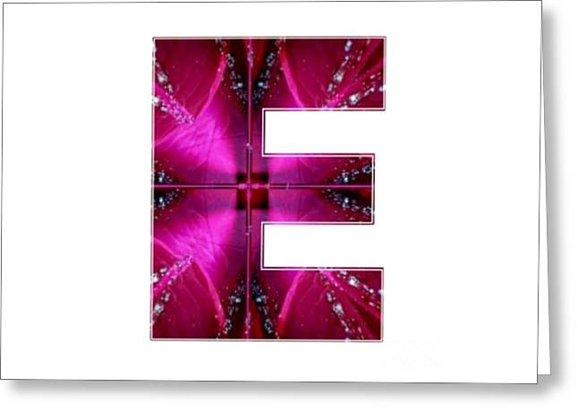 Cut-outs Greeting Cards - E EE EEE  Alpha Art on Shirts alphabets initials   shirts jersey t-shirts v-neck by NavinJoshi Greeting Card by Navin Joshi