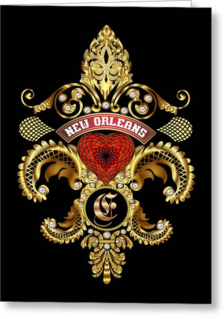 Maids Mixed Media Greeting Cards - E-Fleur-de-lis New Orleans Transparent Back Pick Color Greeting Card by Bill Campitelle
