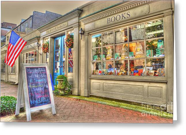 E. Shaver Bookseller Greeting Card by Linda Covino